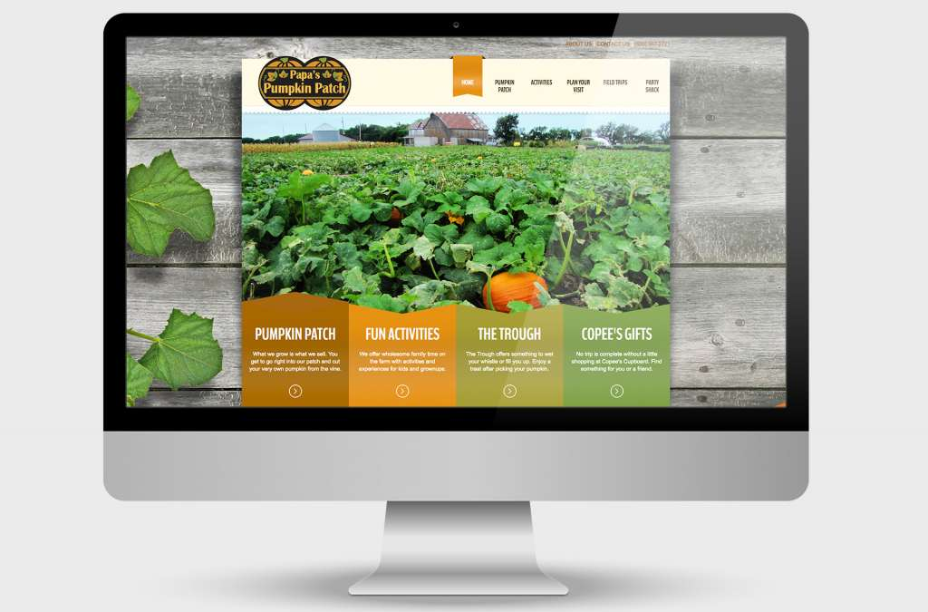Papa's Pumpkin Patch Website Design