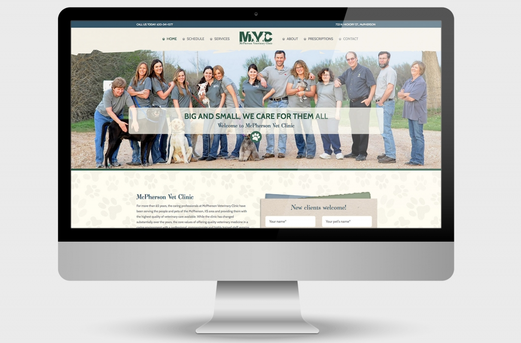 McPherson Veterinary Clinic Custom Website Design