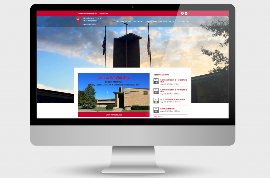 First Christian Church Custom Website Design