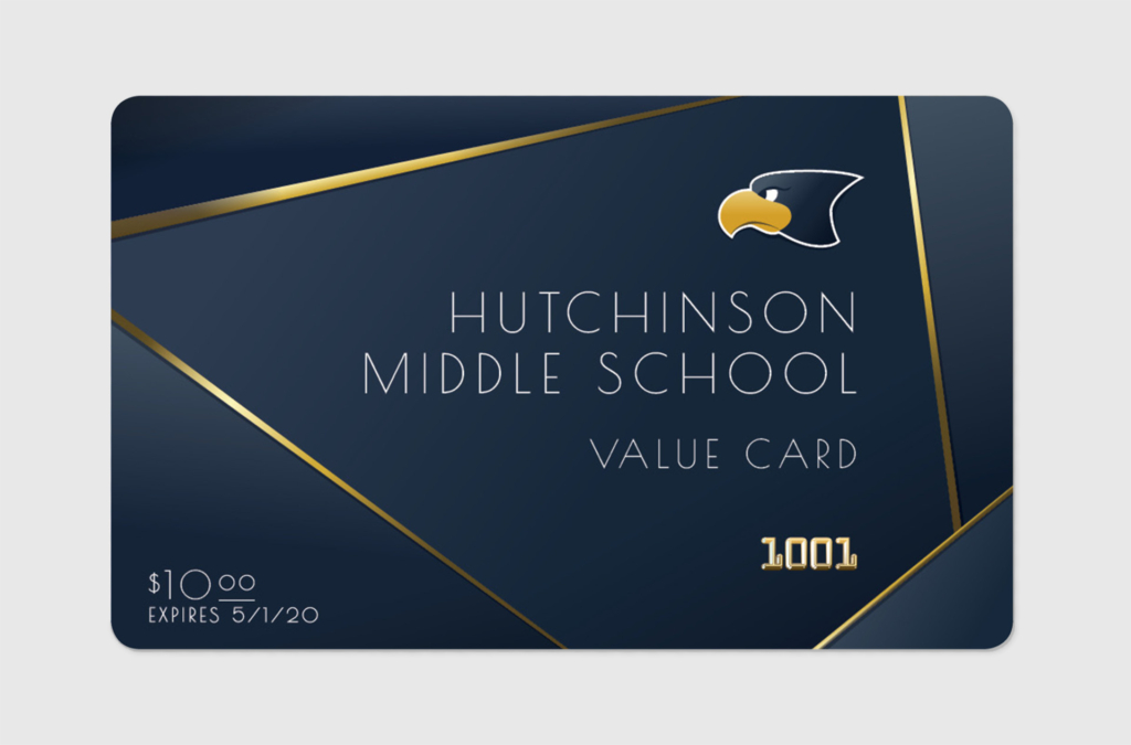 USD 308 Hutchinson Middle School Value Card Custom Print Graphic Design