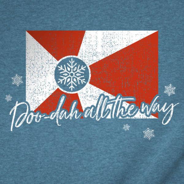 Doo-Dah All the Way Wichita Flag Christmas T-Shirt