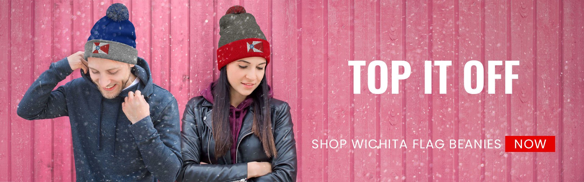 Top it off! Show Wichita flag Beanie hats now.