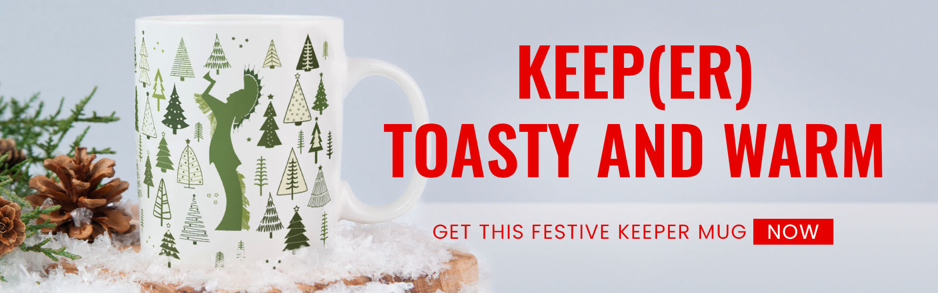 Keep(er) Toasty and Warm. Get this festive Keeper of the Plains Christmas mug now.