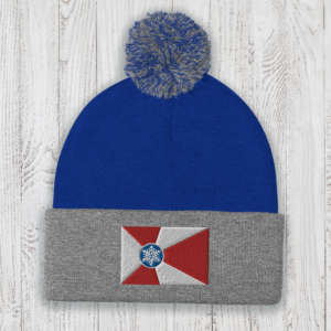Wichita Flag Knit Pom-Pom Beanie