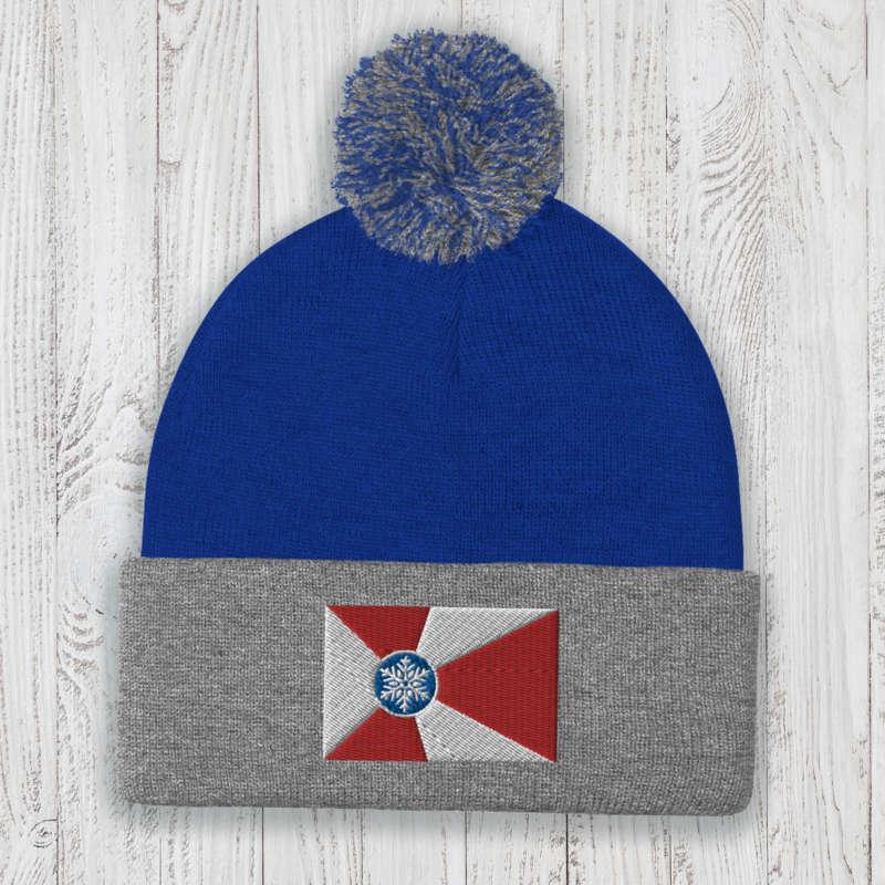Wichita Flag Knit Pom-Pom Beanie