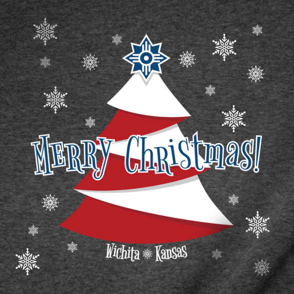 Wichita Flag Christmas T-Shirt