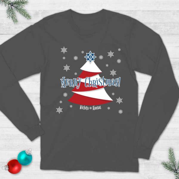 Wichita Flag Christmas T-Shirt