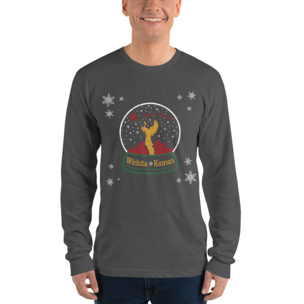 Keeper of the Plains Wichita Christmas Snowglobe T-Shirt