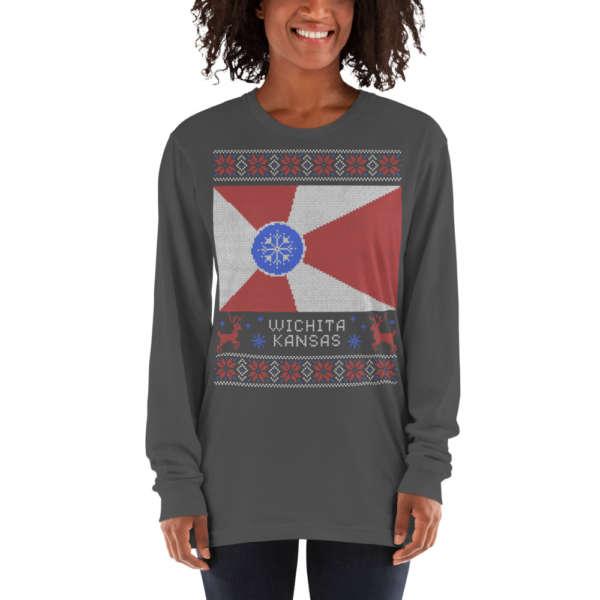 Wichita Flag Ugly Christmas Sweater T-shirt