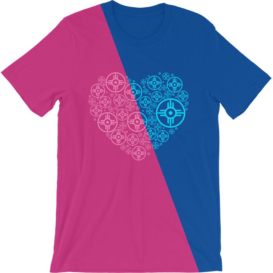 Wichita Flag Hogan Heart Valentine's Day T-Shirt