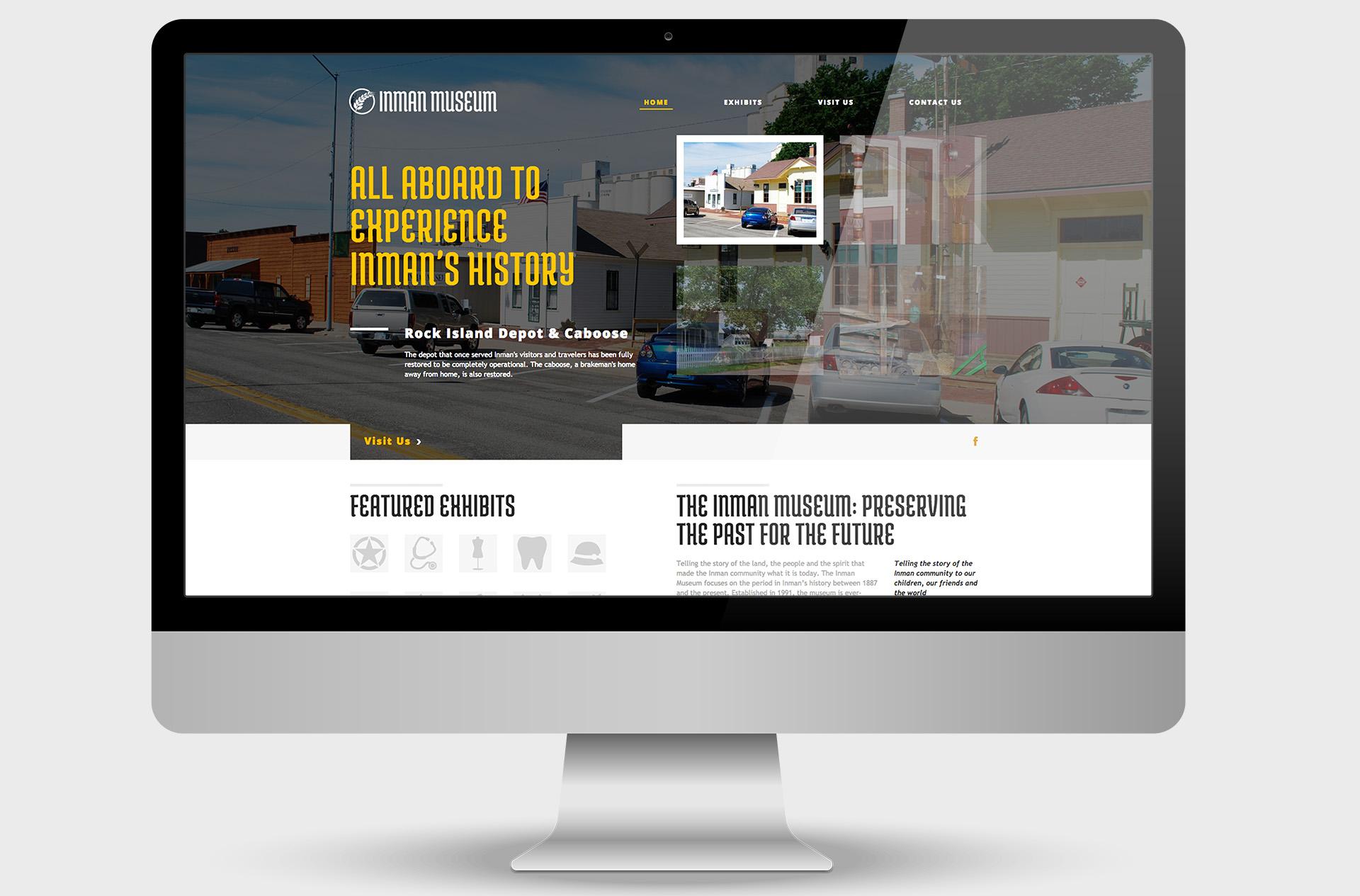 Inman Museum Website Design