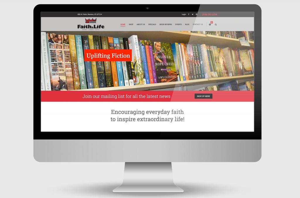 Faith & Life Bookstore Custom Website Design