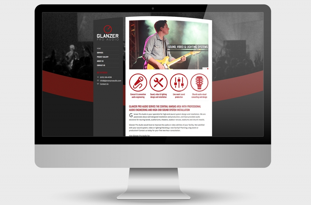 Glanzer Pro Audio Custom Website Design