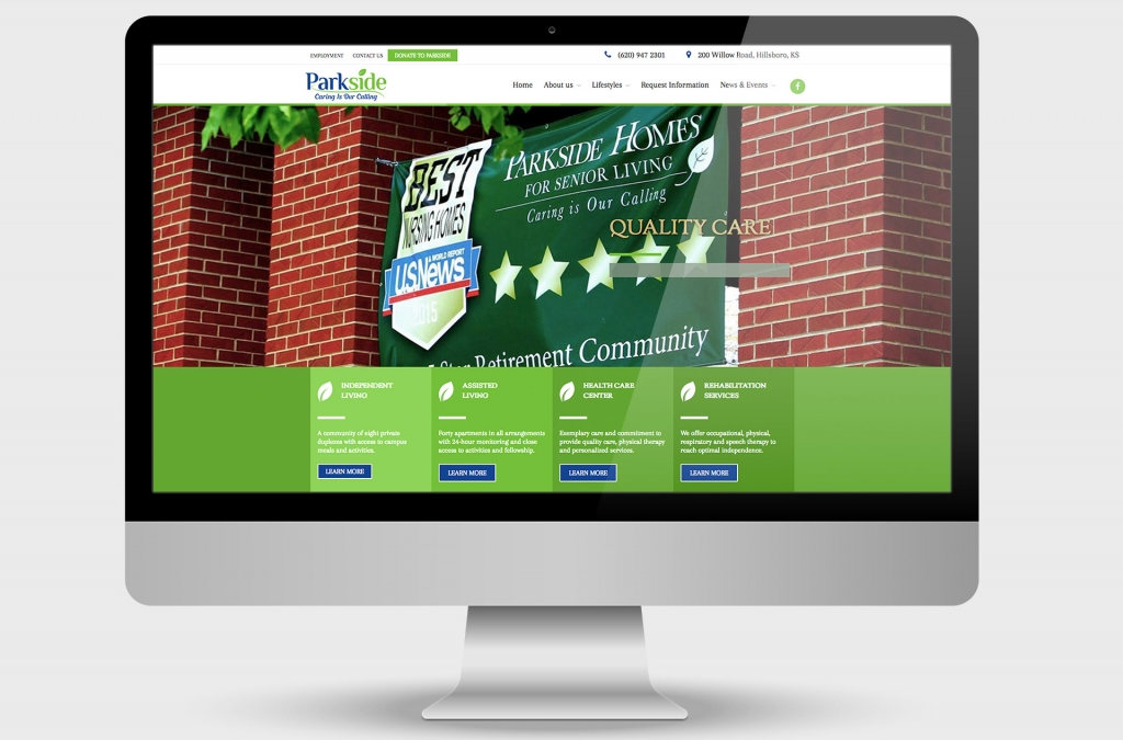 Parkside Homes Custom Website Design
