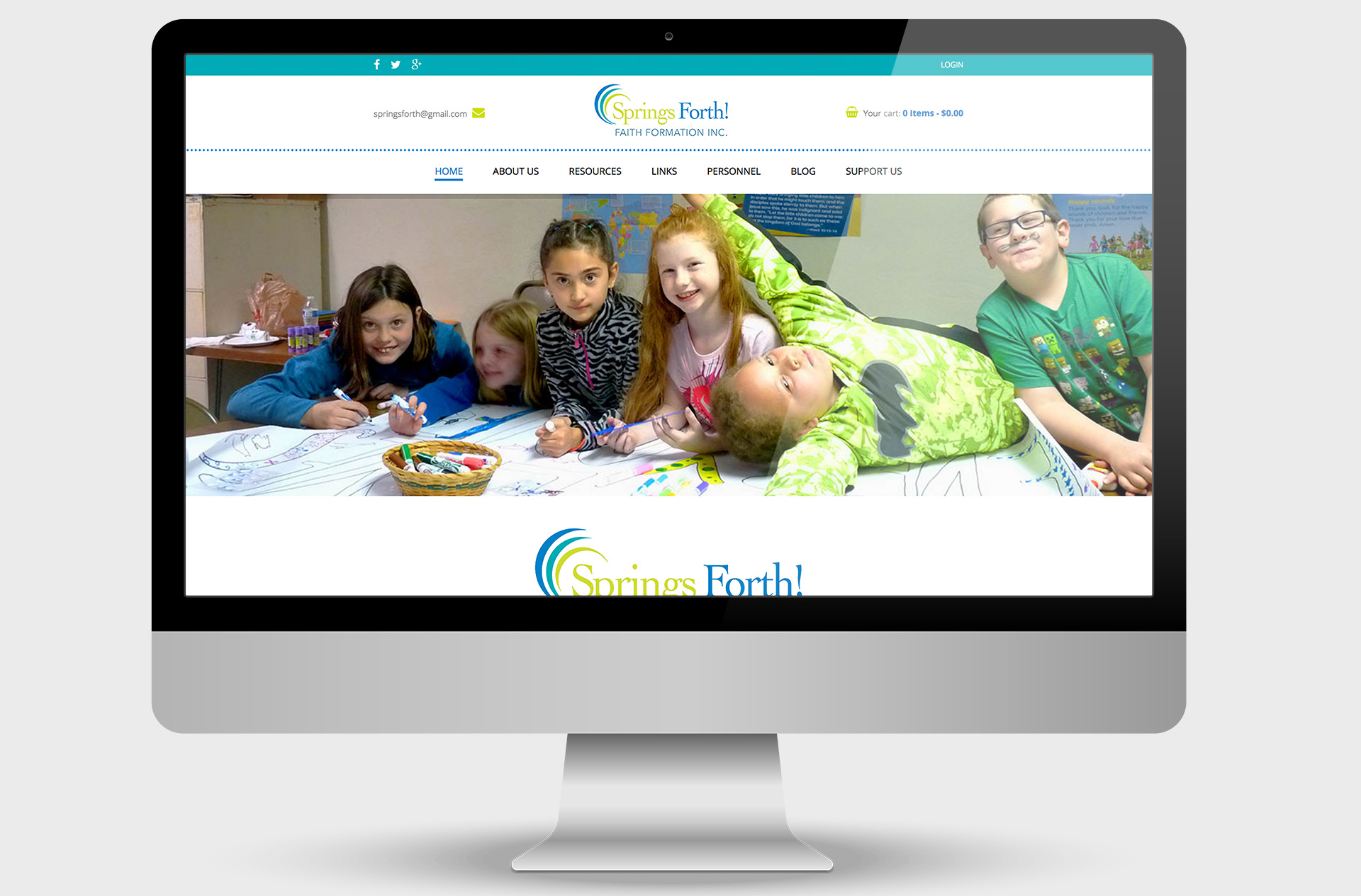 Springs Forth! Custom Website Design