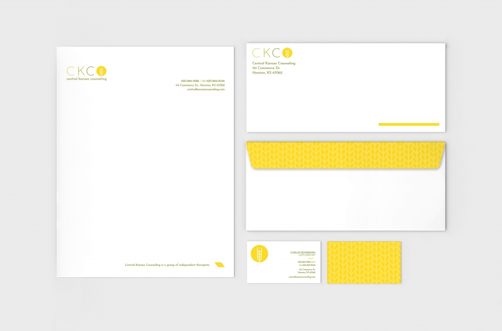 Central Kansas Counseling Identity Package Stationery Custom Design and Branding