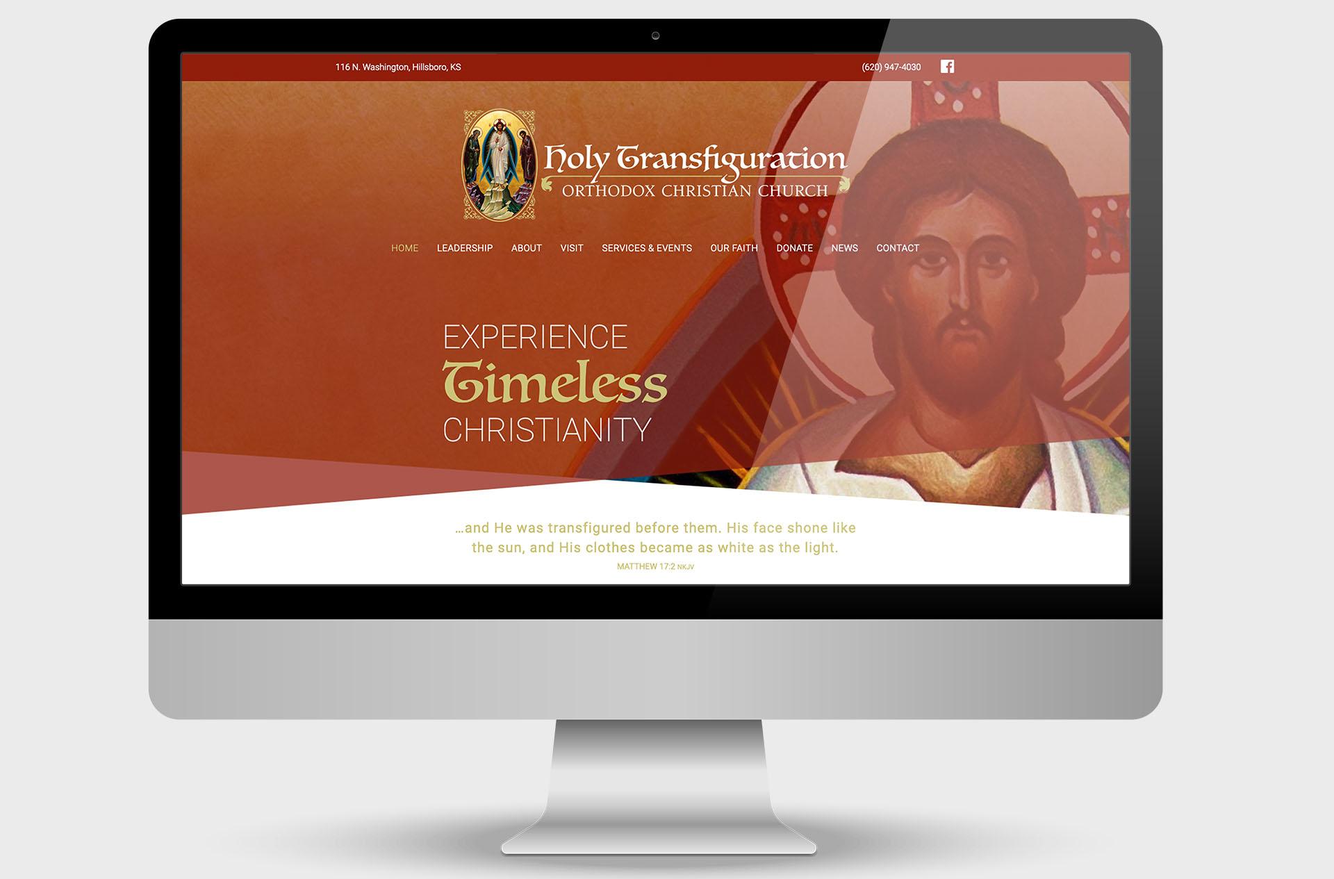 Holy Transfiguration Orthodox Christian ChurchCustom Website Design