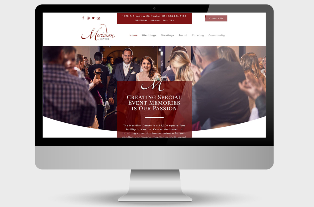 Meridian Center Event Center Custom Website Design