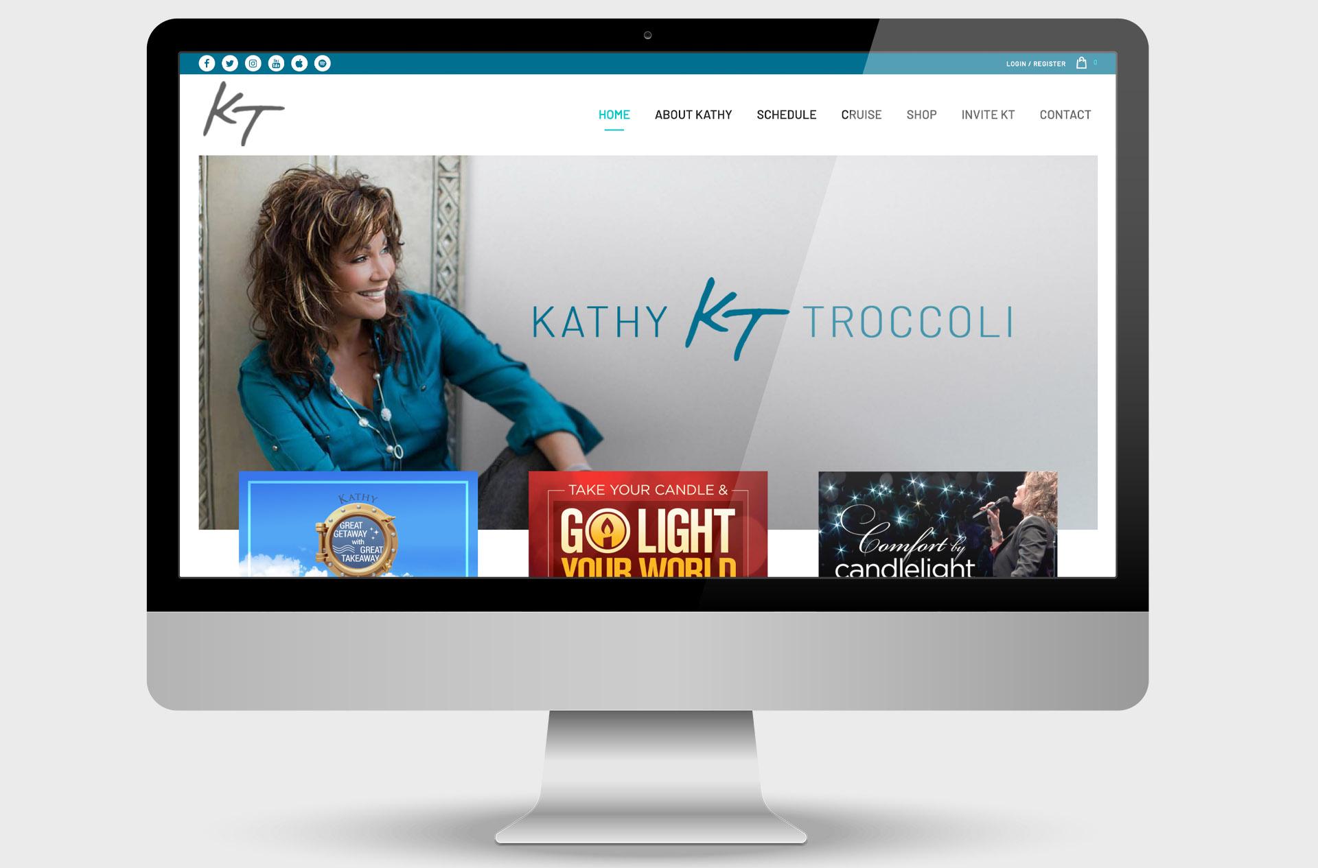 Kathy Troccoli Custom Website Design