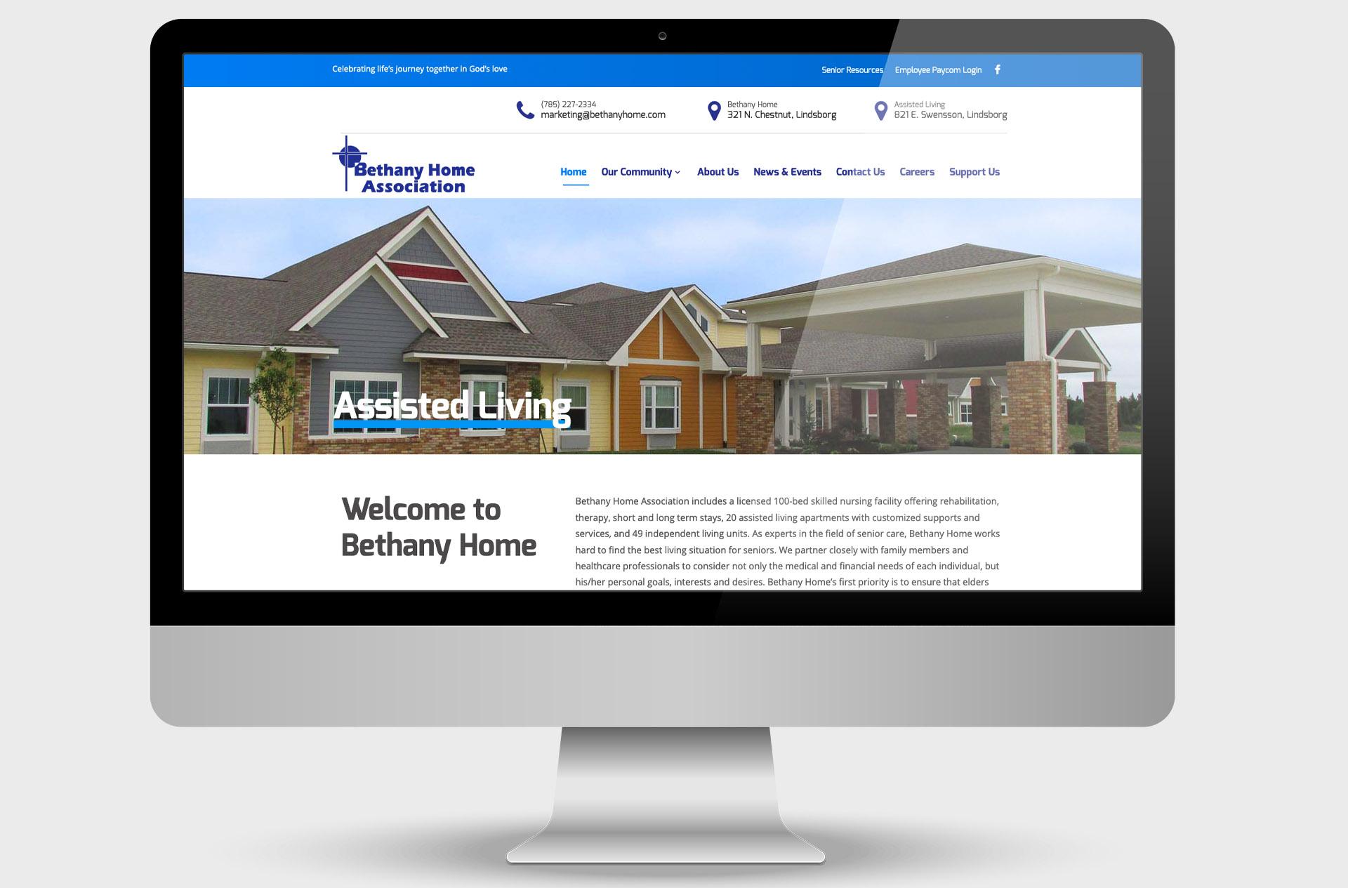 Bethany Home Custom Website Design