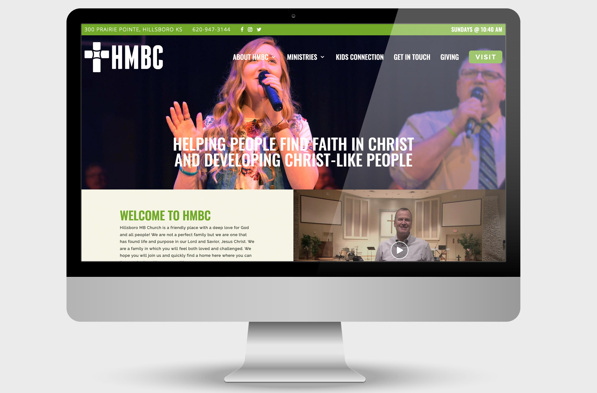 Hillsboro Mennonite Brethren Church Custom Website Design