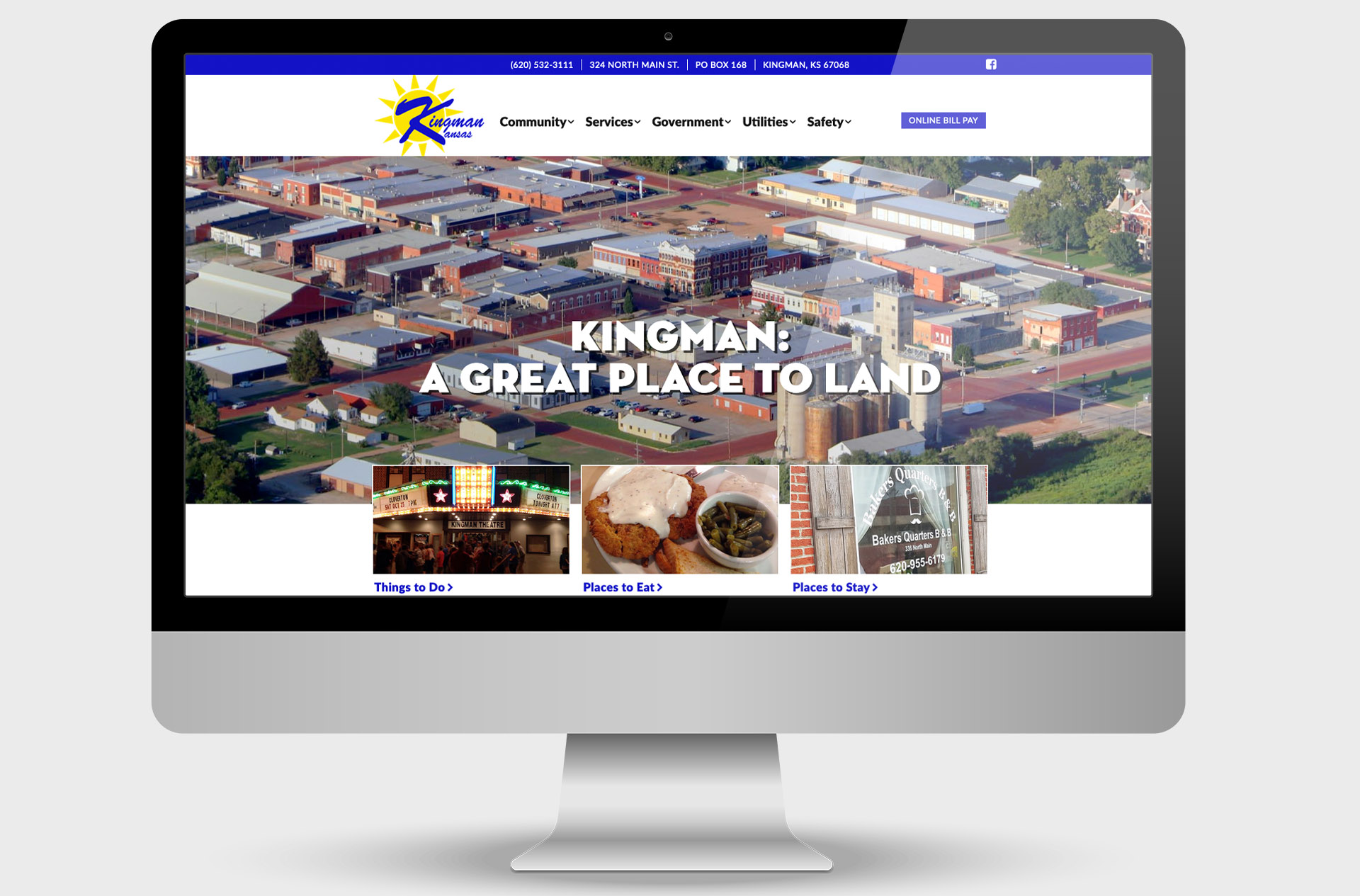 City of Kingman, Kansas, Custom Website Design