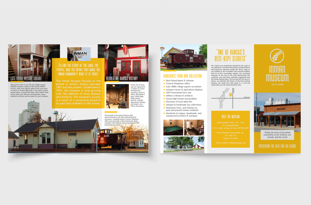Inman Museum Brochure Design