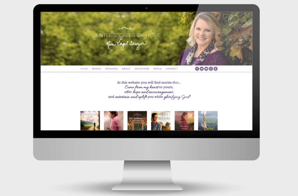 Kim Vogel Sawyer Custom Website Design